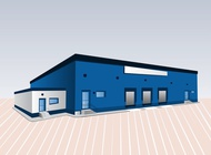 Blue Building vector free