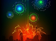 Vector Fireworks free