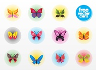 Butterfly Vector Badges free