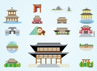 Japanese Architecture vector free