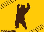 Bear Silhouette Graphics vector free