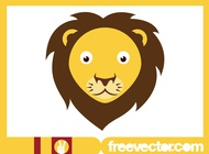 Lion Head Design vector free