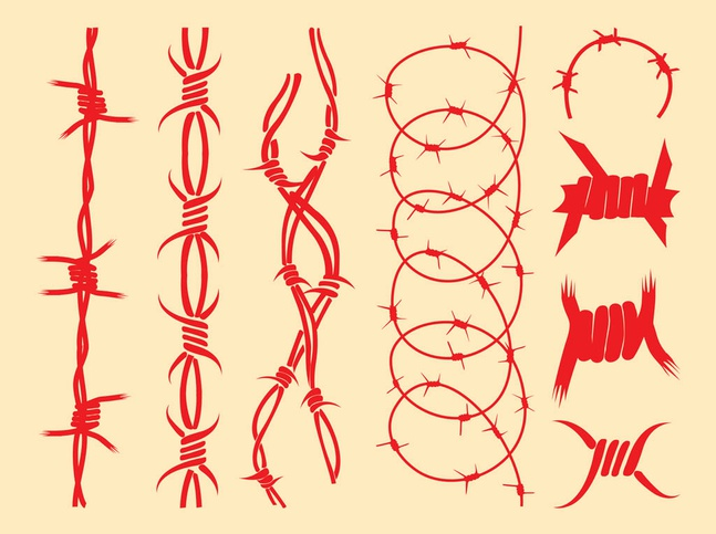 The Barbed Wire Designs vector free will download as a .psd file. You ...