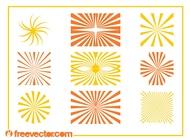 Starburst Patterns Graphics vector free