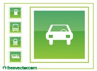 Driving Icons Graphics vector free