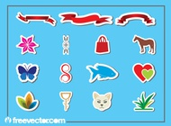 Stickers Graphics vector free