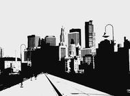 City Road Illustration vector free