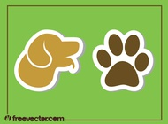 Dog Stickers vector free