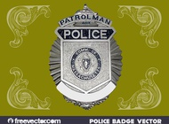 Police Badge Graphics vector free