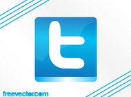 Twitter Button Graphics vector free