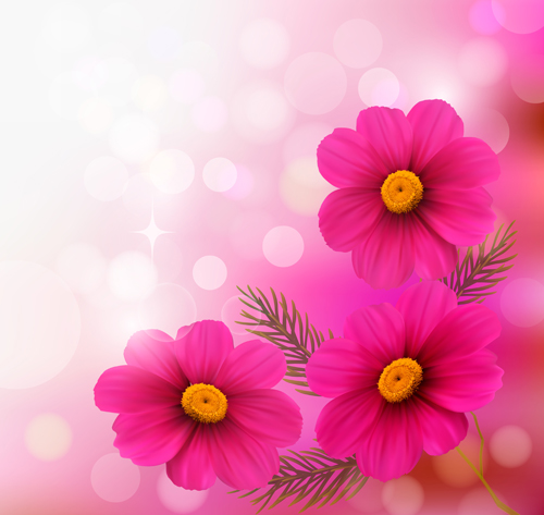Pink Flower With Halation Background Art Free Free Download