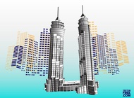 Dubai Skyscrapers vector free