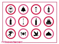 Love And Marriage Icons Graphics vector free