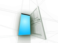Open Door vector free