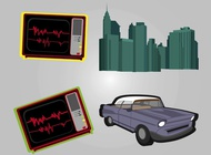 Urban Retro Graphics vector free