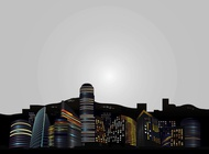 Big City Skyline vector free