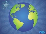 Glossy Globe vector free