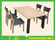Table And Chairs vector free