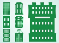 Tall Buildings Set vector free
