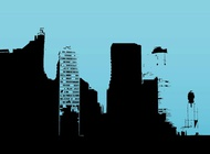 Buildings Outlines vector free