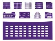 Buildings Silhouettes Set vector free