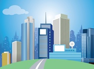 Modern City Vector Art free