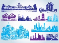 Buildings Clip Art vector free