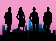 Corporate Silhouettes vector free