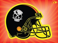 Football Helmet vector free