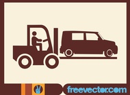 Fork Lift Truck Icon vector free