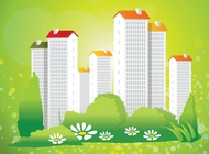 Green City Living Vector free