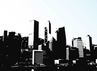 Hong Kong Skyline vector free