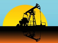 Oil Pump Silhouette vector free