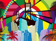 Pop Art City Vector free