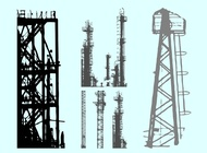 Scaffolds Silhouettes vector free