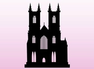 Silhouette Church vector free