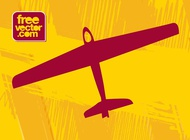 Airplane Graphics vector free