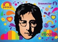 John Lennon vector free
