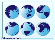 Globes vector free