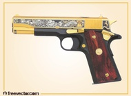 Golden Gun Vector free