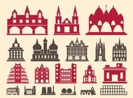 Building Graphics Set vector free
