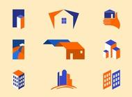 Real Estate Logo Templates vector free