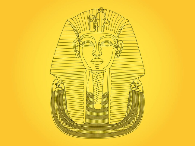 king tut mask template - tutankhamun mask vector free free download