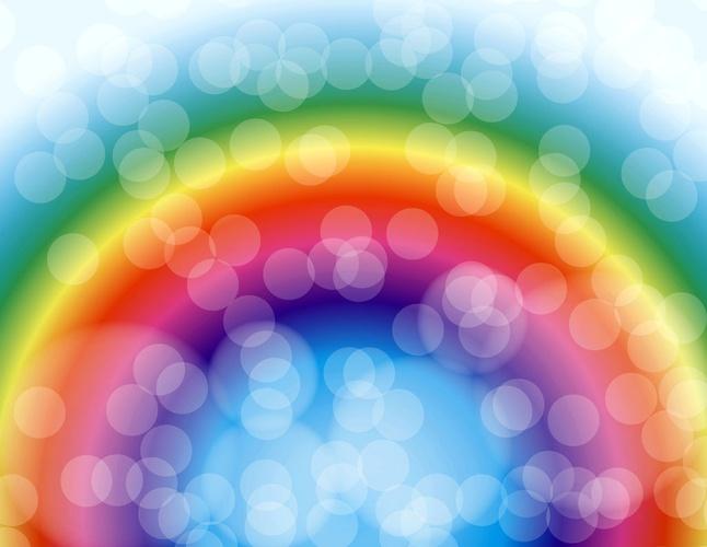 Rainbow Background vector free