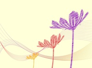 Abstract Floral Background vector free