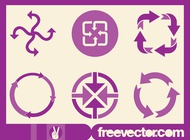 Arrows Icon Set vector free