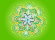Green Flower vector free