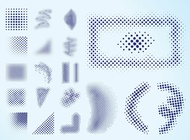 Halftone Graphics vector free