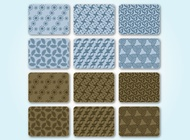 Seamless Pattern Set vector free