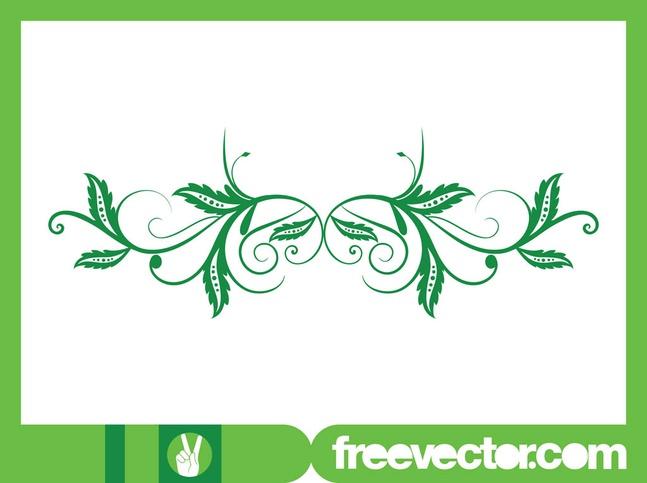 Vector Swirling Leaves free